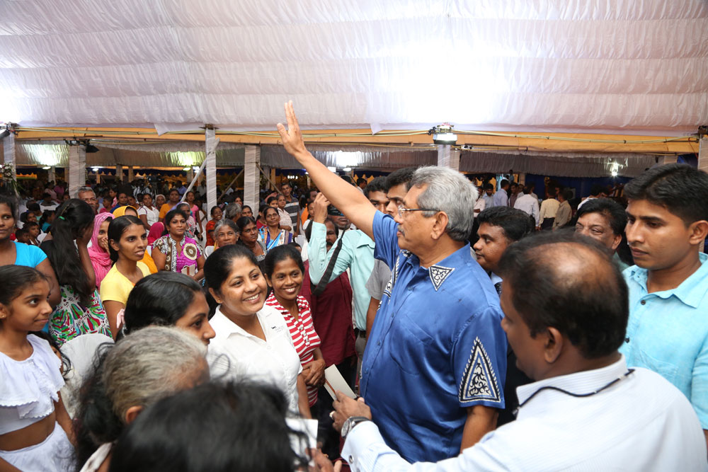 meeting people -Gotabhaya Rajapaksa